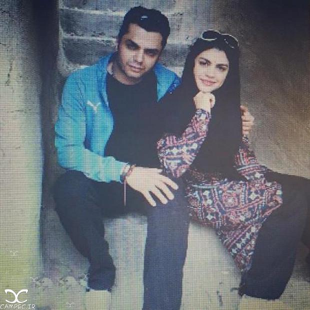 آرش ظلی پور و همسرش