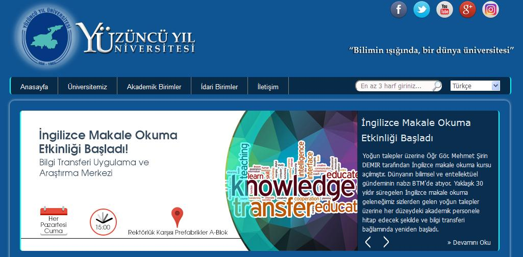 دانلود رایگان مقاله - اکانت دانشگاه Yuzuncu Yil ترکیه