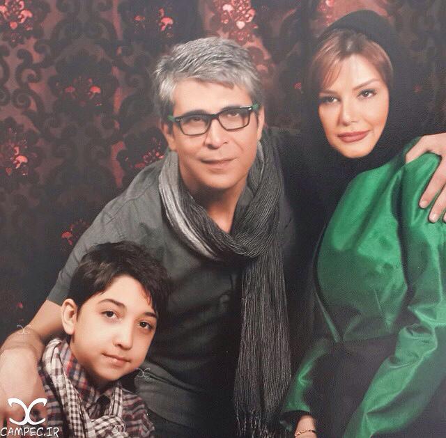 امیر غفارمنش با همسر و پسرش