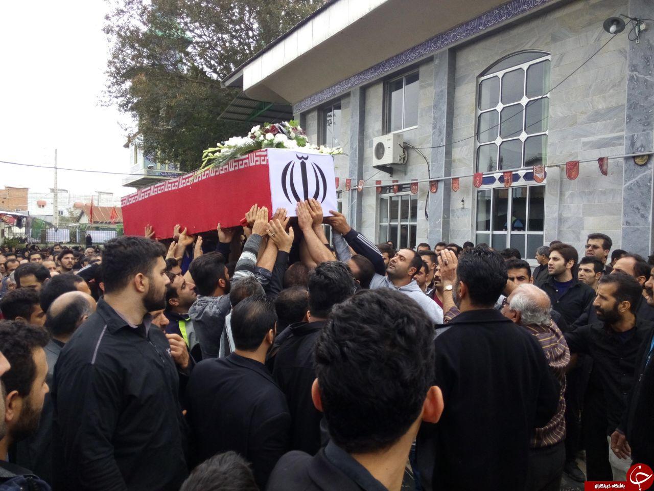 تشییع جنازه سید حمید صفی نژاد | خاکسپاری قهرمان MMA در بابل | عکس