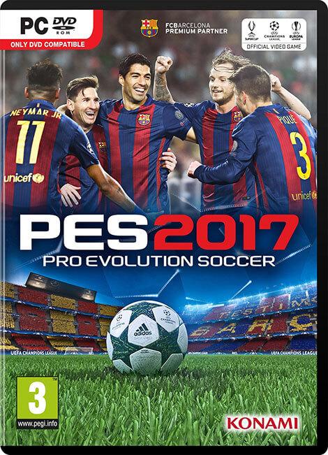 دانلود کرک رایگان بازی PES 2017 برای کامپیوتر pc+راهنمای نصب