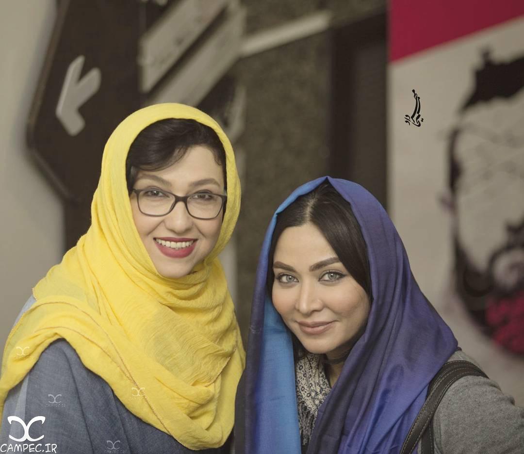 فقیهه سلطانی و معصومه کریمی در اکران خصوصی فیلم جاودانگی