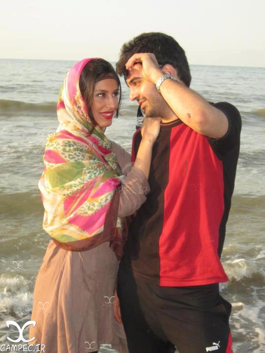 یاسر جعفری و همسرش صدف بهشتی