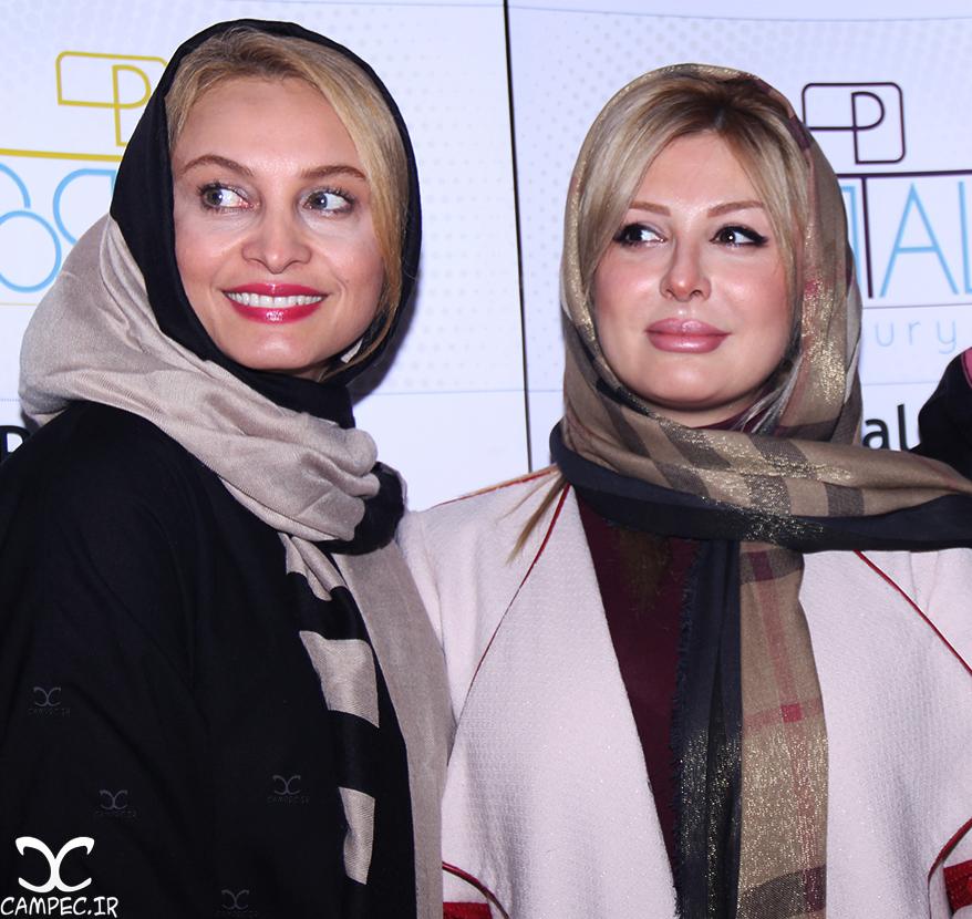 نیوشا ضیغمی و مریم کاویانی در مراسم اکران فیلم جاودانگی