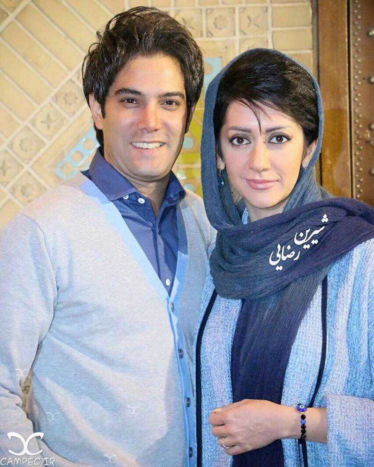 امیر علی نبویان با همسرش