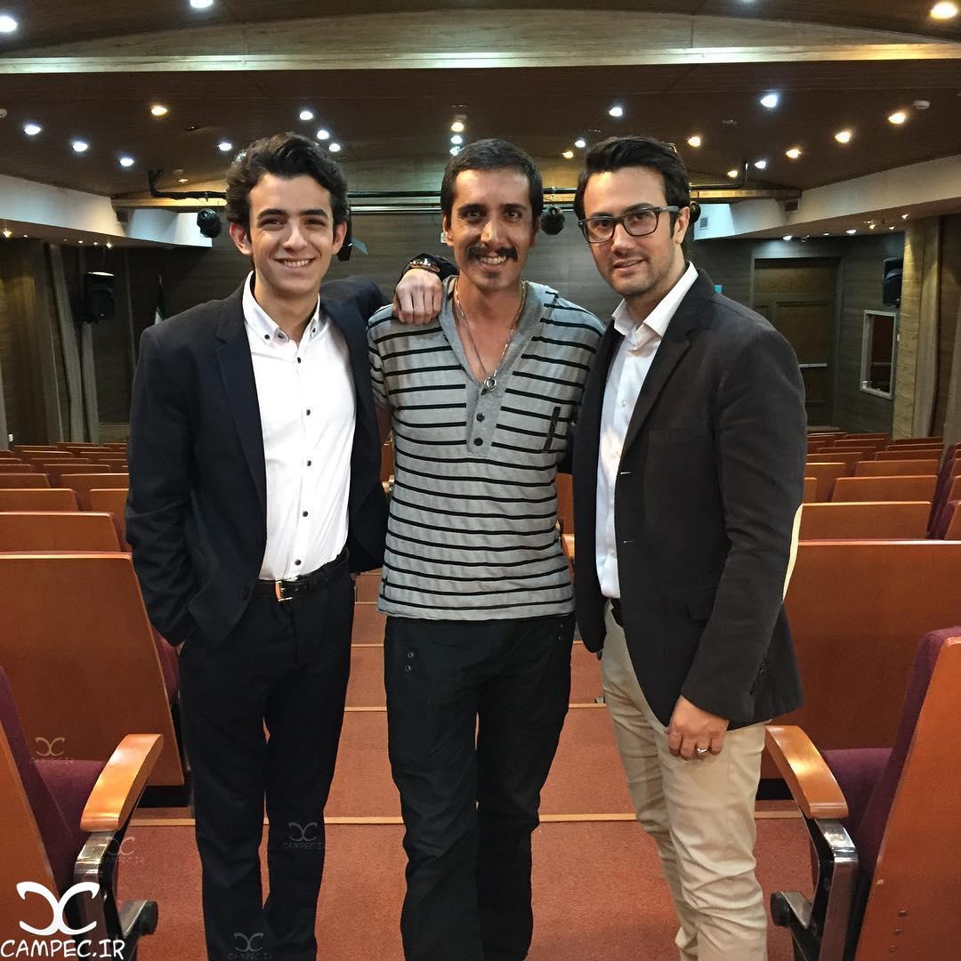 شاهرخ استخری و علی شادمان بازیگران سریال ماه و پلنگ