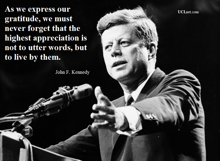 John F. Kennedy Quote about life