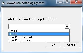 Shotdown windows,نرم افزار مدیریت خاموش و روشن کردن ویندوز