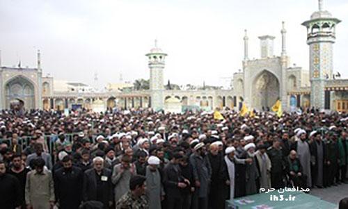 آیین تشییع پیکر 6 شهید مدافع حرم در قم برگزار شد