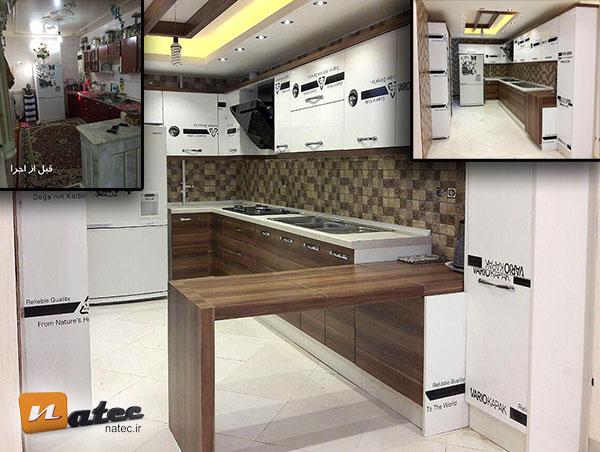 طرح خاص میز اپن آشپزخانه
