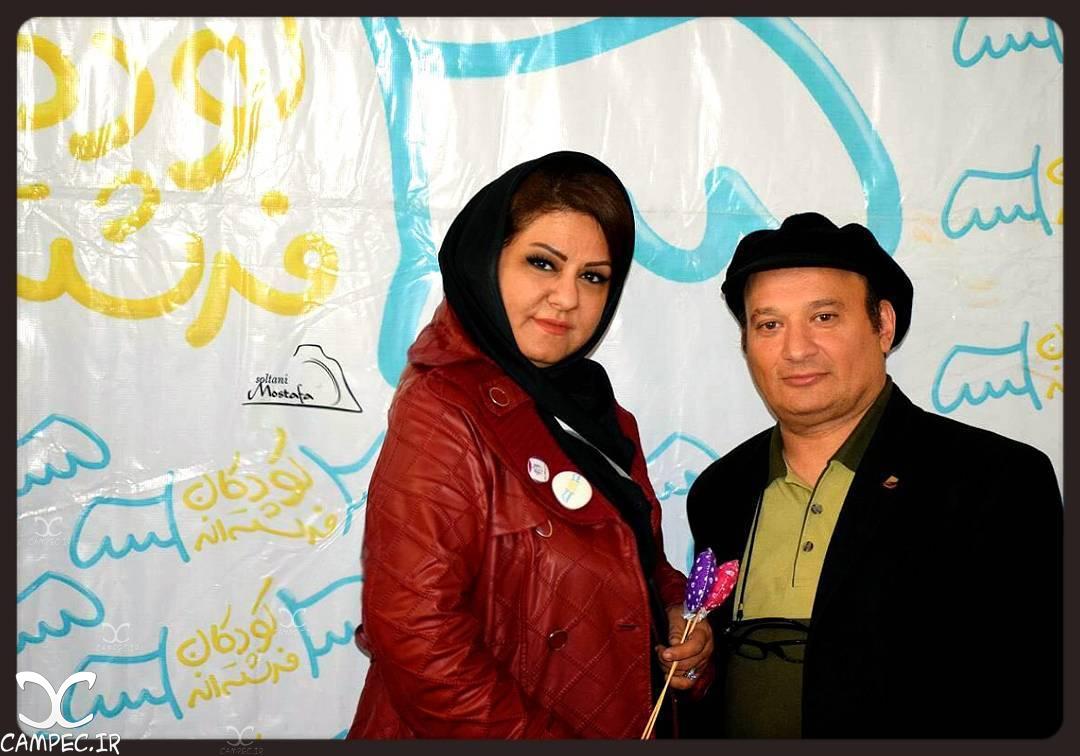شهرام لاسمی معروف به قلقلی با همسرش