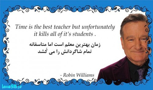 همه چی به زبان انگلیسیTime is the best teacher