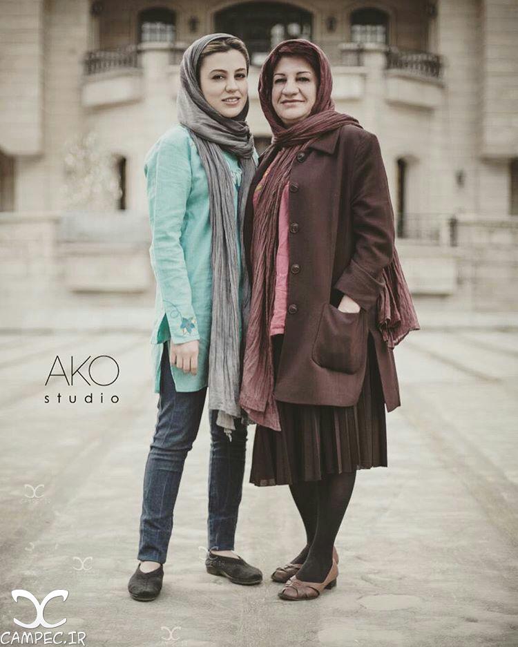 شیدا خلیق با مادرش ناهید مسلمی