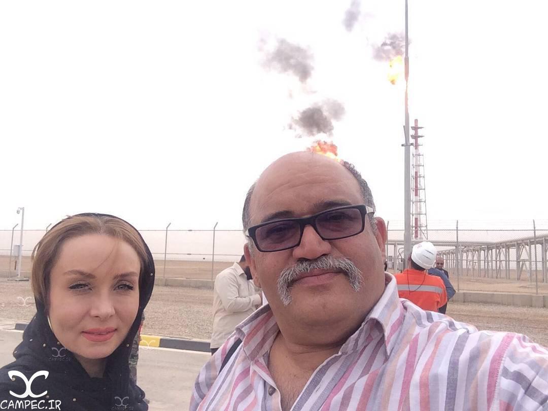 نادر سلیمانی و حدیث فولادوند در بازدید از میدان نفتی غرب کارون