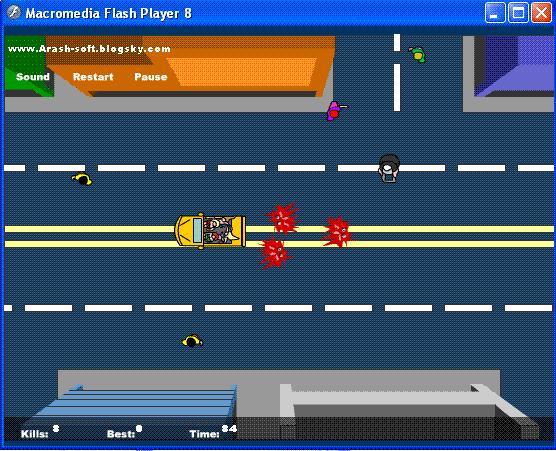 بازي فلش كم حجم,بازي فلش ماشين سواري كنار مدرسه,فلش فرار از مدرسه,GM cars near the school flash game