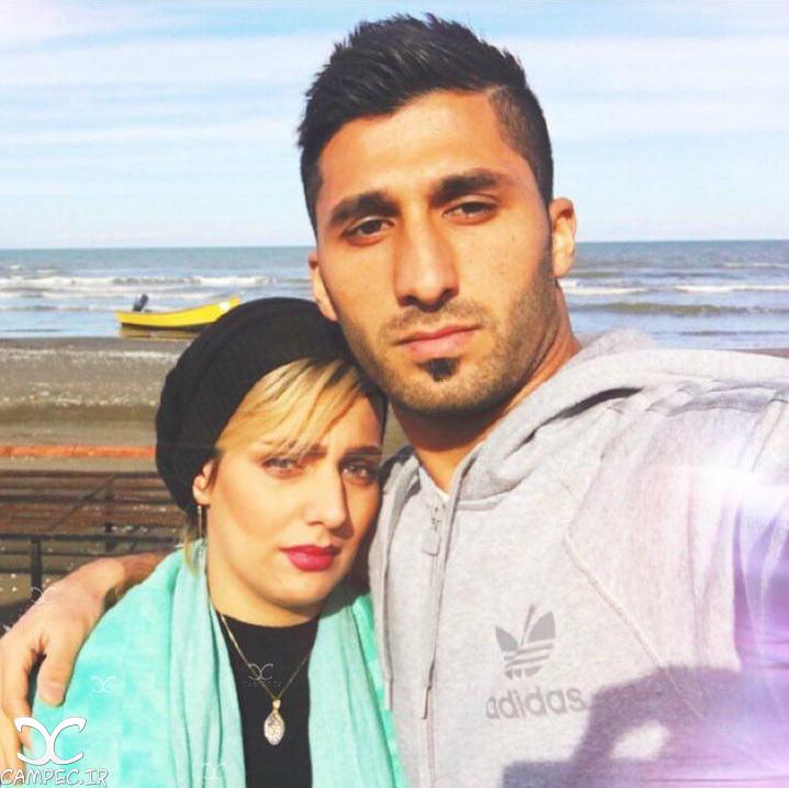 محمد رشید مظاهری با همسرش