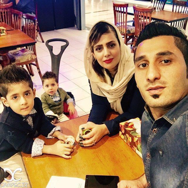 محمد رشید مظاهری با همسر و پسرش
