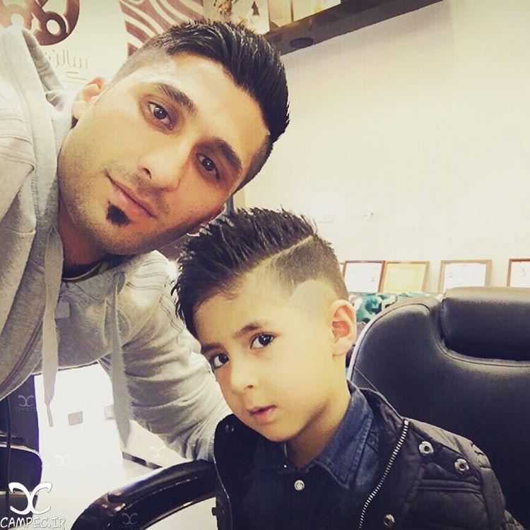 محمد رشید مظاهری با پسرش
