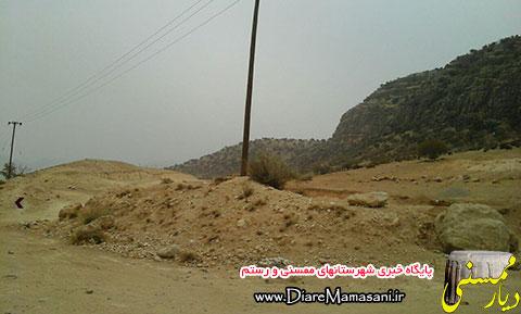 تخریب طبیعت روستای جونگان برای احداث جاده خط گاز