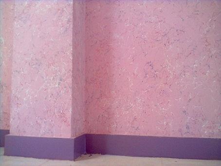 نصب کاغذ دیواری روی رنگ مولتی کالر دیوار image