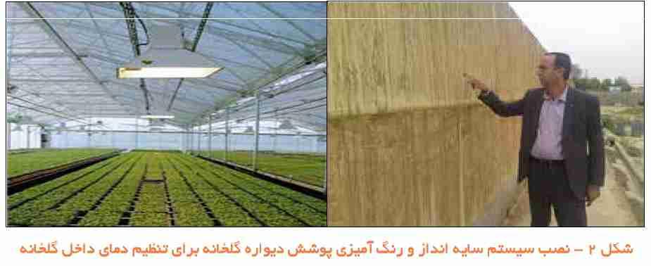 سیستم سایه انداز برای تنظیم دمای گلخانه