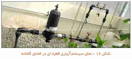 سیستم آبیاری قطره ای در گلخانه
