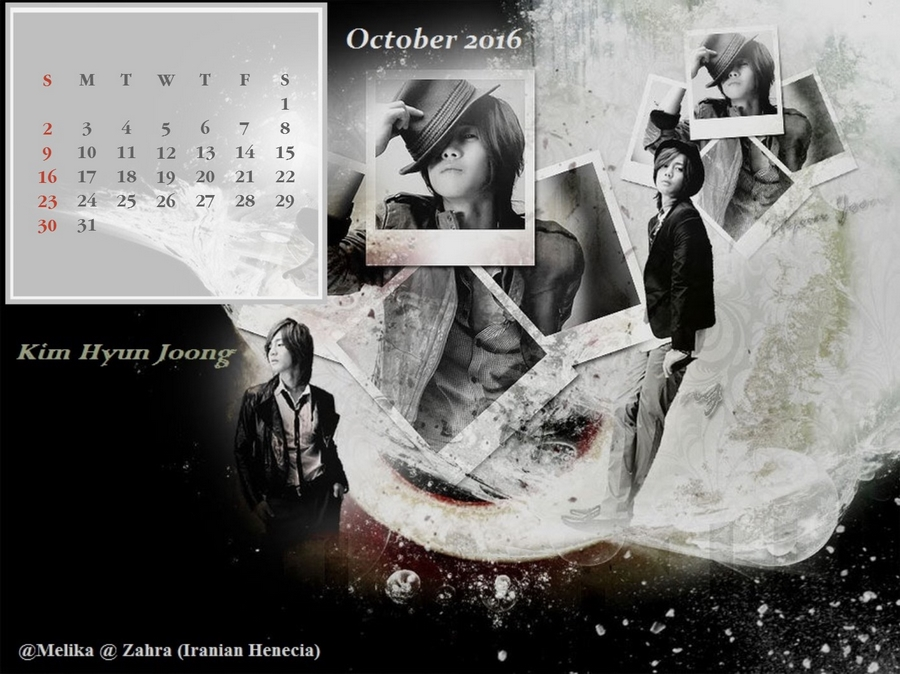 Calendar of October 2016 - Fanart by Melika and Zahra