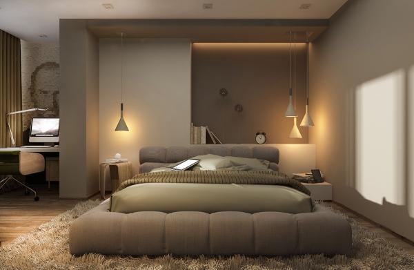 عکس اتاق خواب با تخت کم ارتفاع2