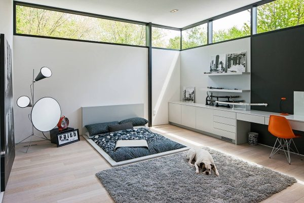 عکس اتاق خواب با تخت کم ارتفاع6