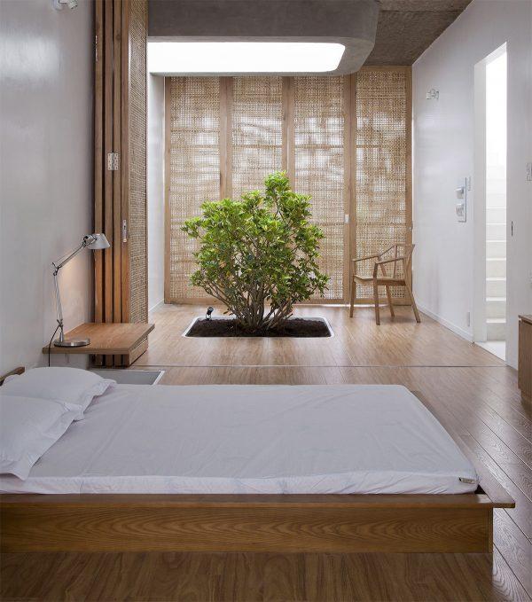 عکس اتاق خواب با تخت کم ارتفاع9
