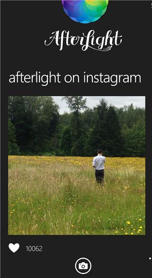 دانلود برنامه ویرایش عکس Afterlight ویندوز فون