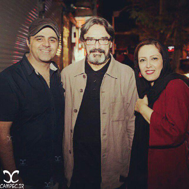 رضا مولایی با همسرش شیوا اردوئی