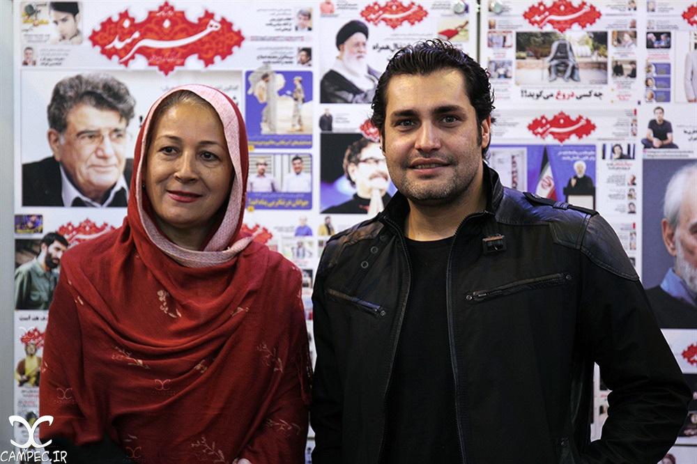 امیر محمد زند در نمایشگاه مطبوعات