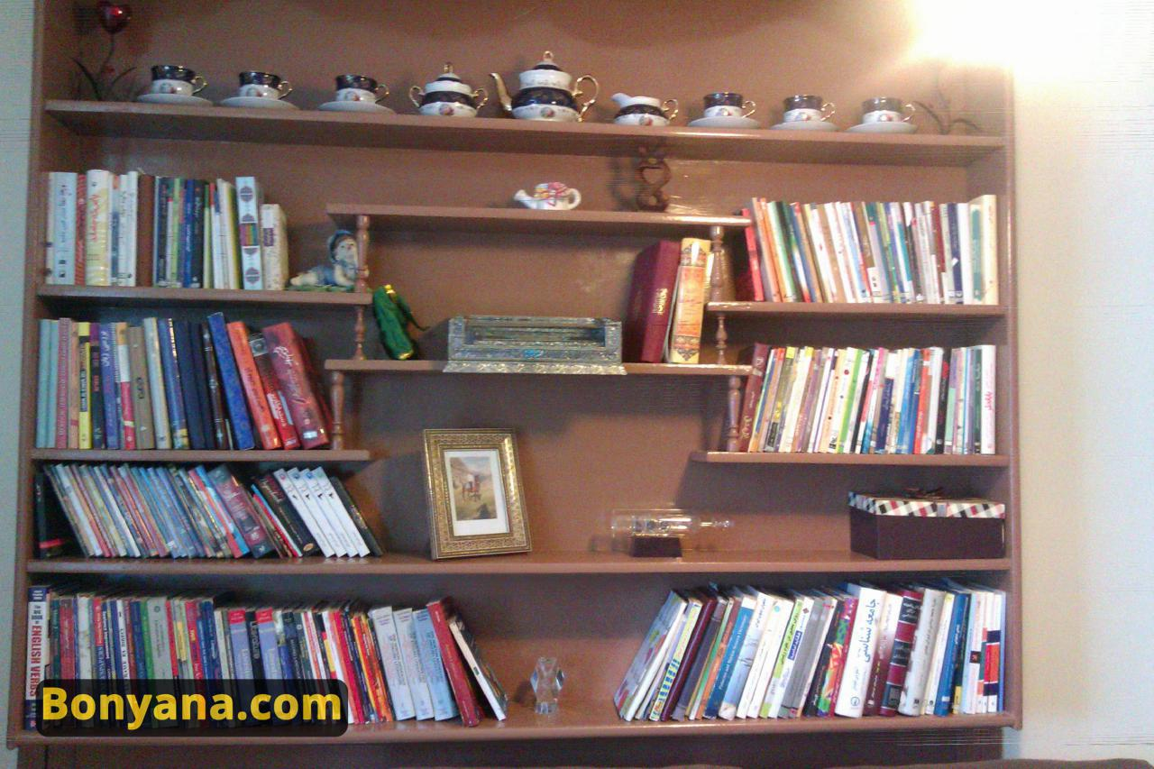 عکس نمونه کتابخانه شخصی . عکس از sun-girl.ir