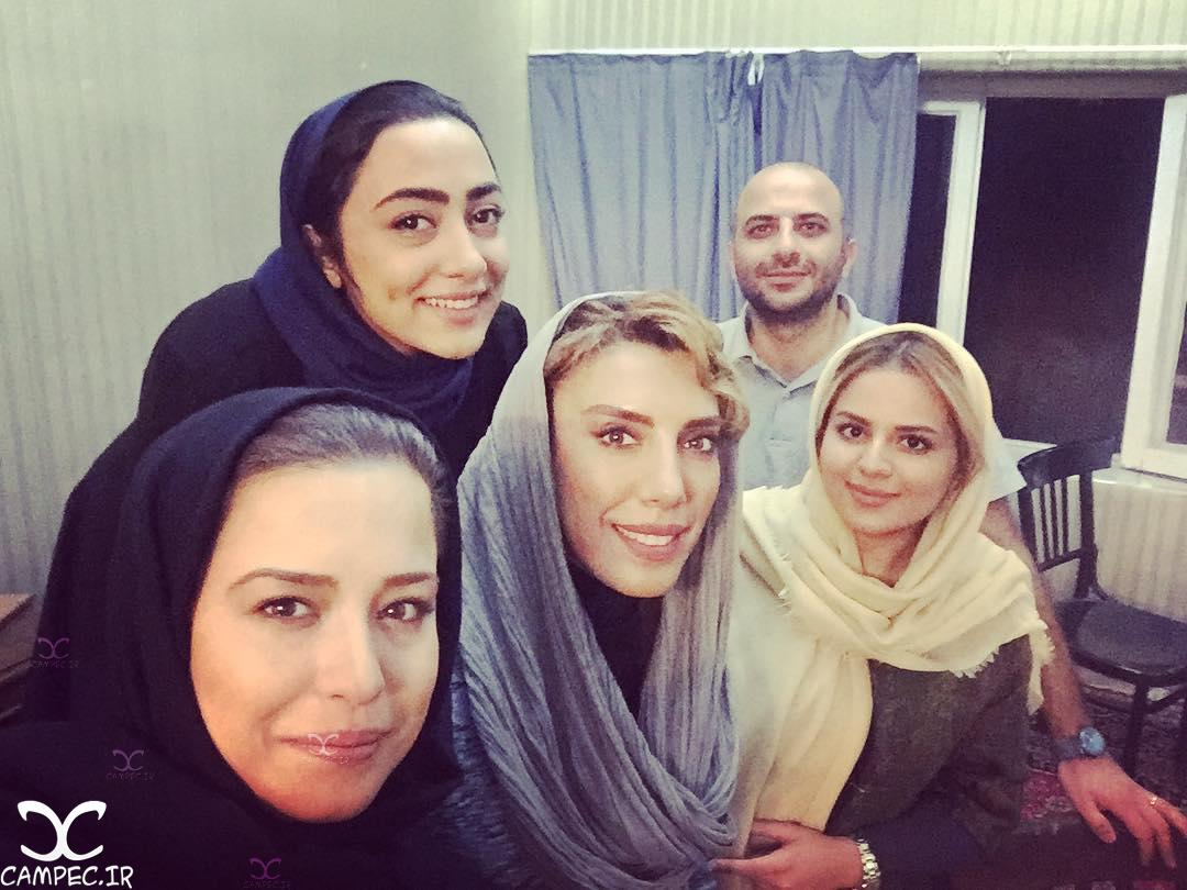 مهراوه شریفی نیا و یاسمن معاوی در سریال پیکسل
