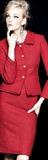 کت دامن مجلسی قرمز جدید