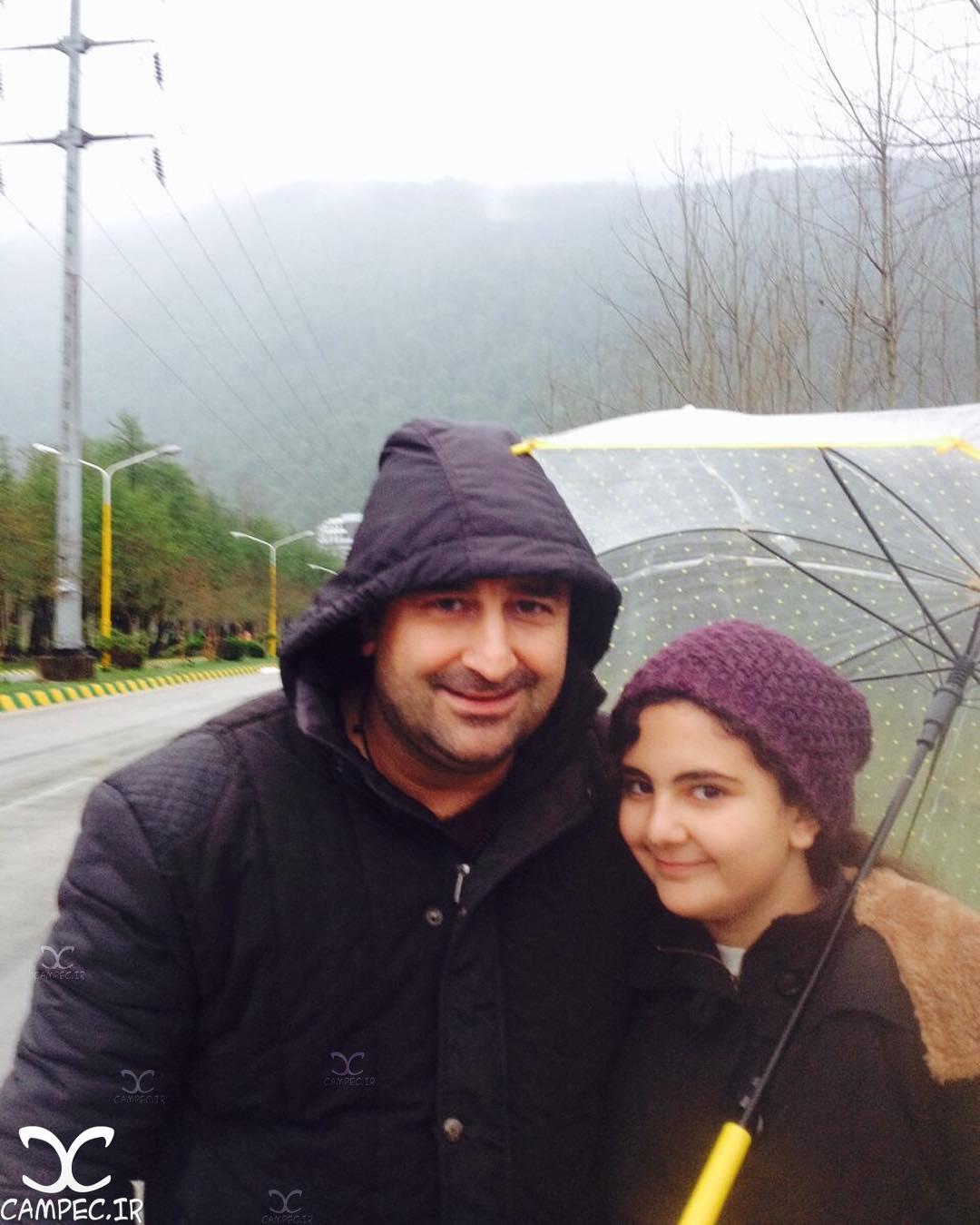 مهران احمدی با دخترش باران
