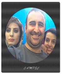 عکسها و بیوگرافی مهران احمدی با همسر و دخترش