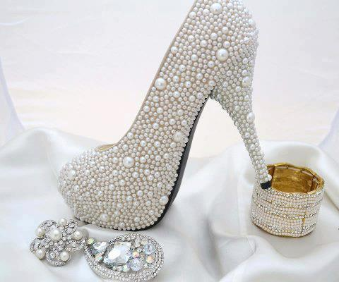 مدل کفش پاشنه بلند شیک عروس سری 3