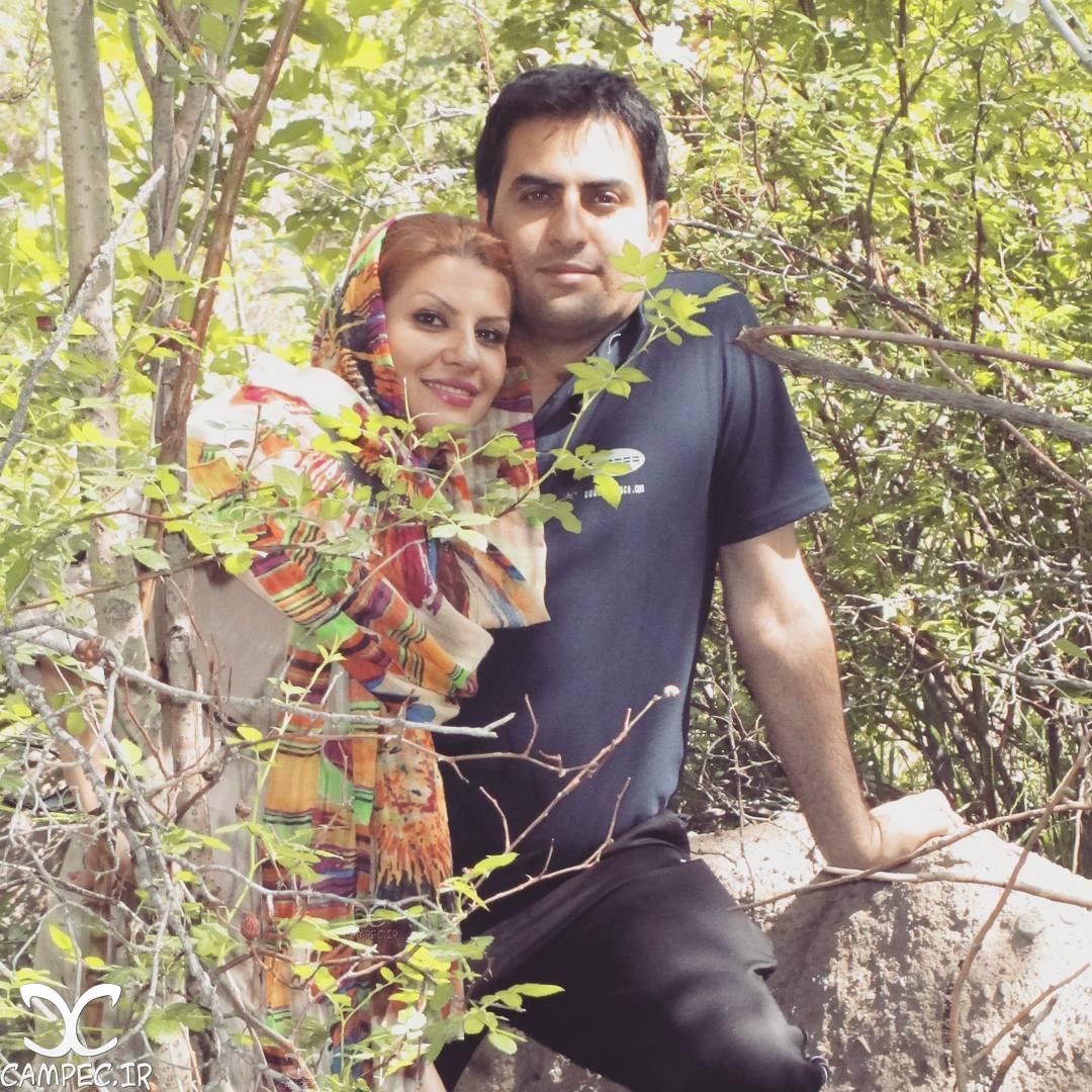 محمد امین نبی اللهی با همسرش حدیثا زمانی