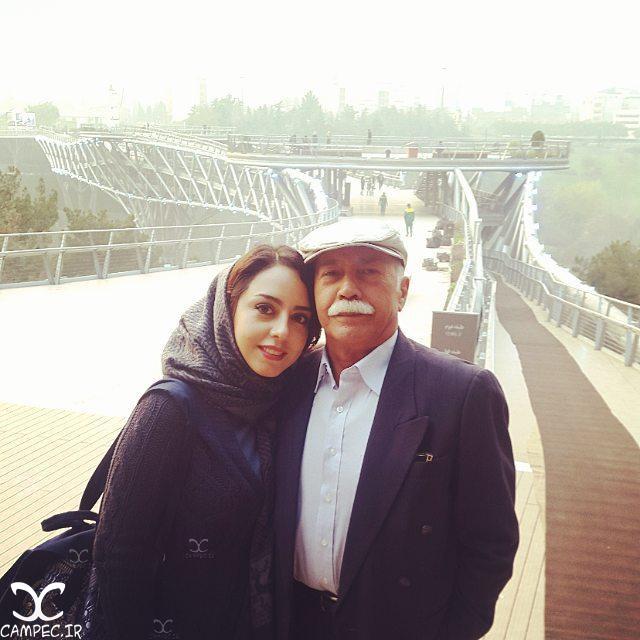 ایران مسعودی با پدرش