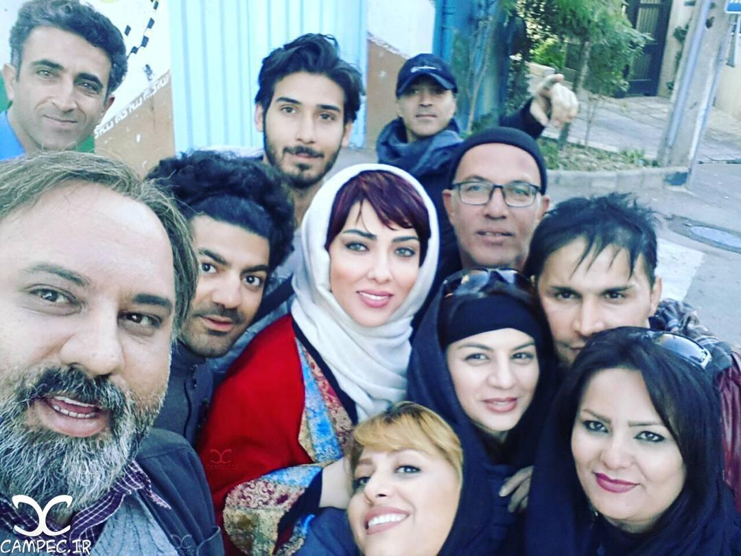 لیلا اوتادی در پشت صحنه فیلم آزاد به قید شرط