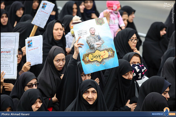 تشییع سه مدافع حرم در مشهد