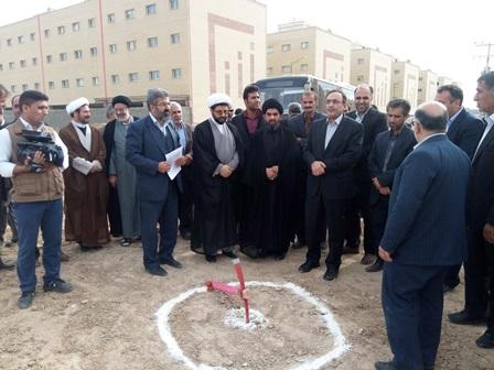 حضور امام جمعه شهر قهدریجان حاج آقا هاشمی در مراسم افتتاحیه و کلنگ زنی پروژه های عمرانی