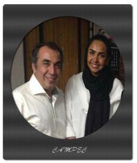 عکسها و بیوگرافی سیامک انصاری با همسرش طناز هادیان