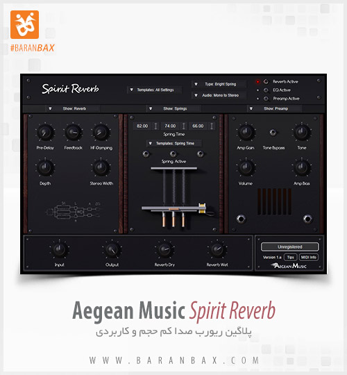 دانلود پلاگین ریورب Aegean Music Spirit Reverb