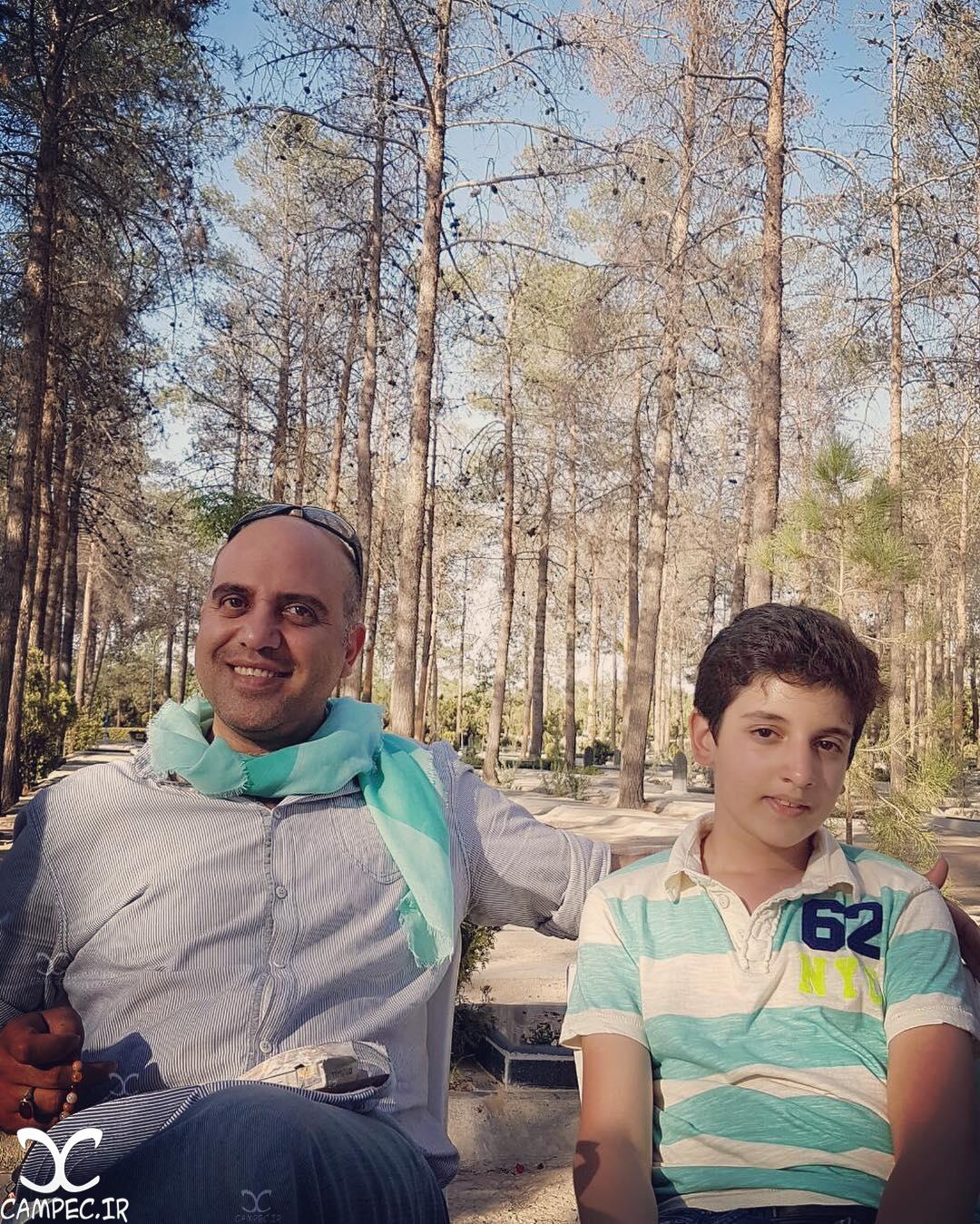 شهرام شاه حسینی با پسرش