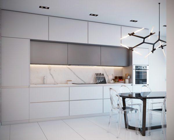 سنگ مرمر سفید در آشپزخانه2