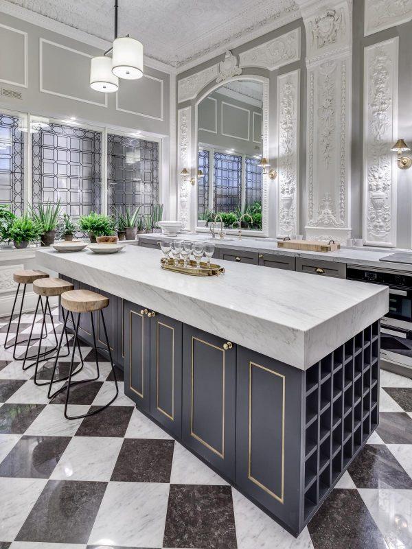 سنگ مرمر سفید در آشپزخانه10