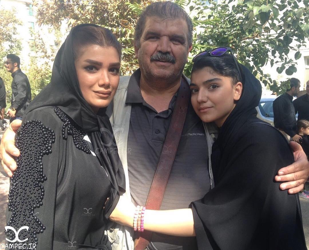 کیانوش گرامی با دو دخترش
